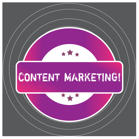 Writing note showing Content Marketing. Business concept for involves creation and sharing of online material