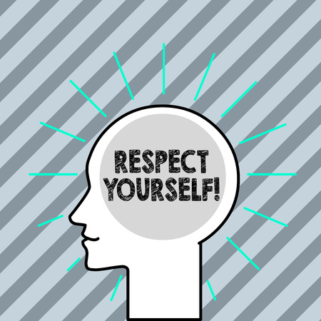 Word writing text Respect Yourself. Business photo showcasing believing that you good and worthy being treated well