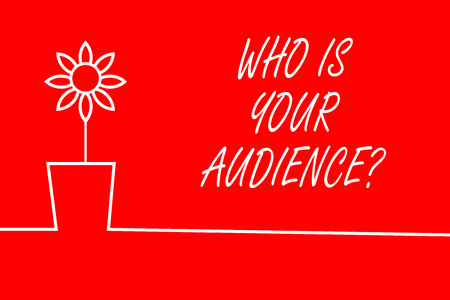 Text sign showing Who Is Your Audience Question. Business photo showcasing who is watching or listening to it Stok Fotoğraf