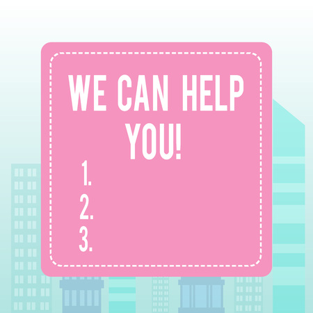 Writing note showing We Can Help You. Business concept for offering good assistance to customers or friends 스톡 콘텐츠