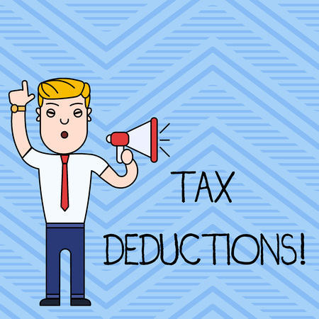 Handwriting text writing Tax Deductions. Conceptual photo reduction income that is able to be taxed of expenses Reklamní fotografie