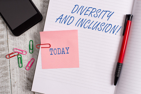 Text sign showing Diversity And Inclusion. Business photo showcasing range huanalysis difference includes race ethnicity gender 版權商用圖片 - 123058646