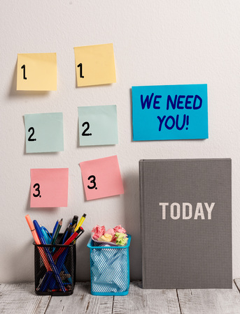 Text sign showing We Need You. Business photo text asking someone to work together for certain job or target