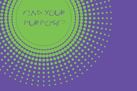 Conceptual hand writing showing Find Your Purpose question. Concept meaning reason for something is done or for which exists Abstract geometric deep design Simulating depth and stains Stockfoto - 123137499