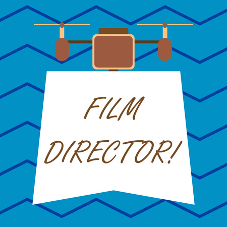 Text sign showing Film Director. Business photo text a demonstrating who is in charge of making and directing a film Modern unique design of night lampshade with two air blowers on the top