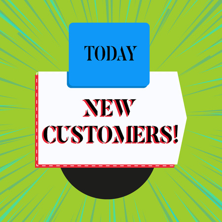 Word writing text New Customers. Business photo showcasing an entity that has not previously purchased one s is goods Stock fotó