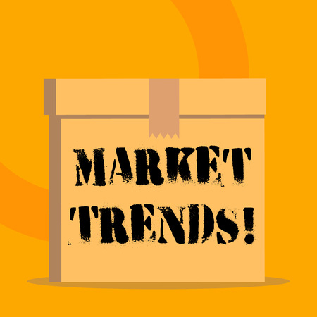 Handwriting text Market Trends. Conceptual photo Changes and developments in buying and selling in the market