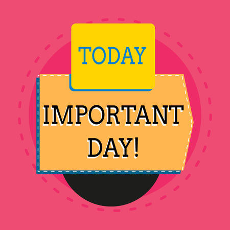 Word writing text Important Day. Business photo showcasing Better, greater, or otherwise different day from what is usual Electronic device with non symmetrical triangle edging shape for printing