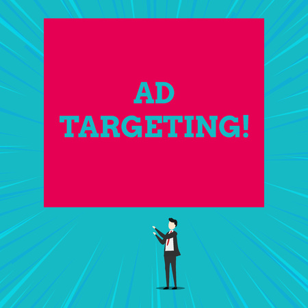 Text sign showing Ad Targeting. Business photo showcasing target the most receptive audiences with certain traits