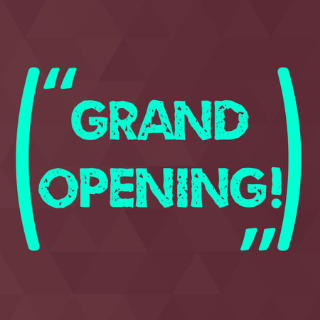 Word writing text Grand Opening. Business photo showcasing held to mark the opening of a new business or public place Maroon Monochrome Triangle Mesh Seamless Grid Pattern for Technical Design 写真素材