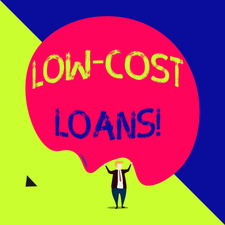 Handwriting text Low Cost Loans. Conceptual photo loan that has an interest rate below twelve percent