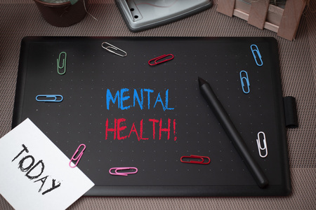 Word writing text Mental Health. Business photo showcasing demonstratings condition regard to their psychological well being