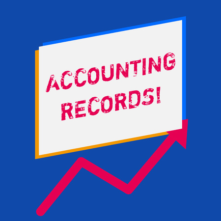 Word writing text Accounting Records. Business photo showcasing Manual or computerized records of assets and liabilities Stock Photo