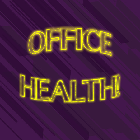 Writing note showing Office Health. Business concept for improves the overall physical and mental state of employees Seamless Diagonal Violet Stripe Paint Slanting Line Repeat Pattern