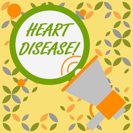 Wort schreiben Text Herzkrankheit. Geschäftsfoto, das eine Klasse von Krankheiten zeigt, die das Herz oder die Blutgefäße betreffen