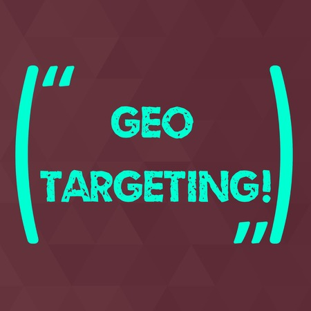 Word writing text Geo Targeting. Business photo showcasing method of determining the geolocation of a website visitor Maroon Monochrome Triangle Mesh Seamless Grid Pattern for Technical Design
