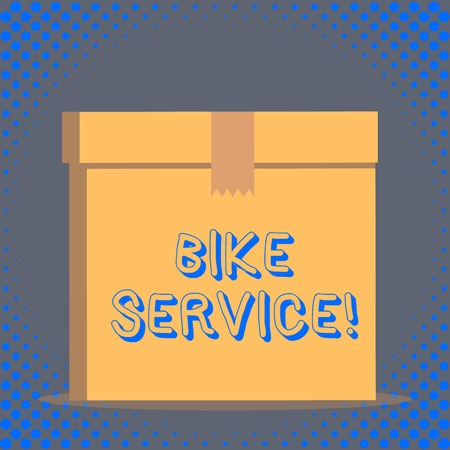 Word writing text Bike Service. Business photo showcasing cleaning and repairing bike mechanism to keep best condition Standard-Bild
