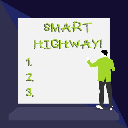 Word writing text Smart Highway. Business photo showcasing Highways that converge the highly advanced road technologies