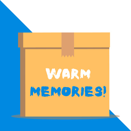 Text sign showing Warm Memories. Business photo showcasing Something that you remember with pleasure Sweet reminiscences