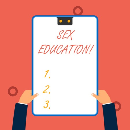 Handwriting text writing Sex Education. Conceptual photo Instruction of issues relating to huanalysis sexuality and anatomy