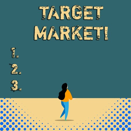 Text sign showing Target Market. Business photo text Particular group of consumers which a product is aimed