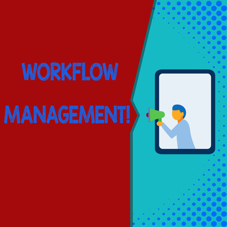 Writing note showing Workflow Management. Business concept for the execution and automation of business processes 스톡 콘텐츠