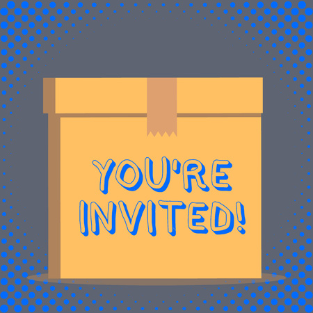 Word writing text You Re Invited. Business photo showcasing You are happily encouraged to attend and event or a party