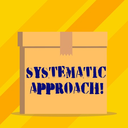 Writing note showing Systematic Approach. Business concept for A process used to determine the viability of a project Фото со стока
