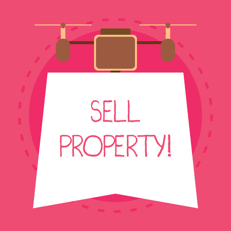 Conceptual hand writing showing Sell Property. Concept meaning Accepting an offer of money in return for the property Unique design of night lampshade with two air blowers on the top