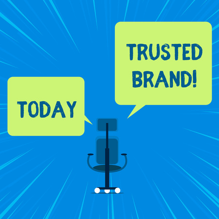 Word writing text Trusted Brand. Business photo showcasing Consumer believe in the integrity and the ability of the brand 版權商用圖片