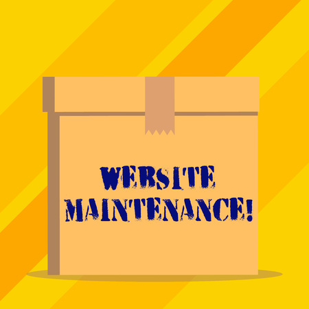 Writing note showing Website Maintenance. Business concept for act of regularly checking your website for issues