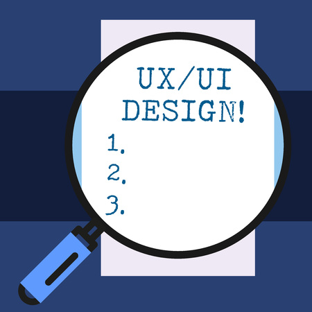 Text sign showing Ux Or Ui Design. Business photo showcasing two different elements of a single consumer experience