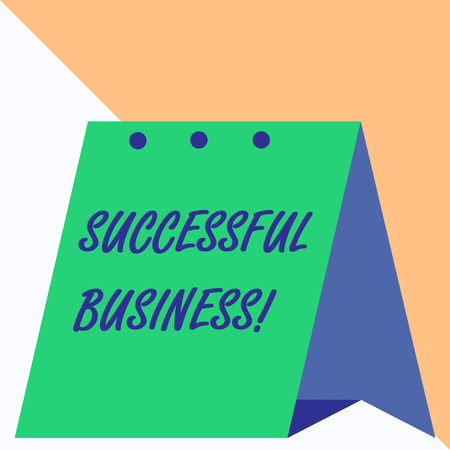 Writing note showing Successful Business. Business concept for Achievement of goals within a specified period of time