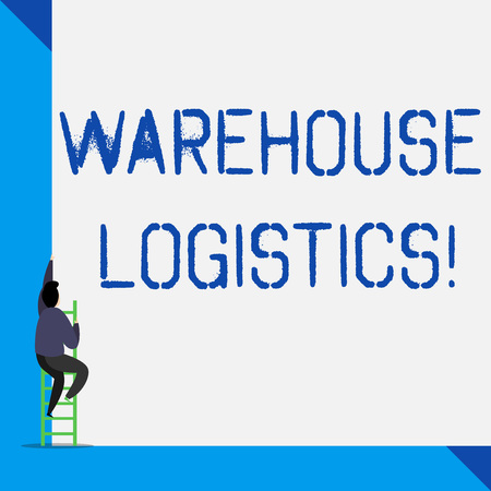 Writing note showing Warehouse Logistics. Business concept for flow of both physical goods and information in business 写真素材