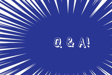 Conceptual hand writing showing Q And A. Concept meaning defined as questions being asked and answers Abstract geometric deep design Simulating depth and stains