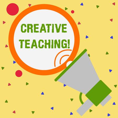 Konzeptionelle Handschrift zeigt kreative Lehre. Begriff Sinne etwas Gutes aus Lernsituationen machen Trompete Runde streichelte Sprechballon Ankündigung sprechen Standard-Bild