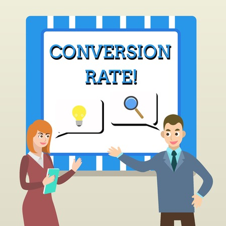 Handwriting text Conversion Rate. Conceptual photo number of visitors to a website that meet the desired goal Business Partners Colleagues Jointly Seeking Problem Solution Generate Idea Zdjęcie Seryjne