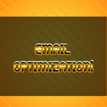 Word writing text Email Optimization. Business photo showcasing Maximize the effectiveness of the marketing campaign Infinite Diagonal Pattern Yellow Stripes Slanting Lines Matching Background