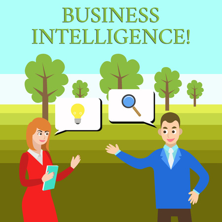 Word writing text Business Intelligence. Business photo showcasing Best Practice of Information to Optimize Perforanalysisce Business Partners Colleagues Jointly Seeking Problem Solution Generate Idea Stock Photo