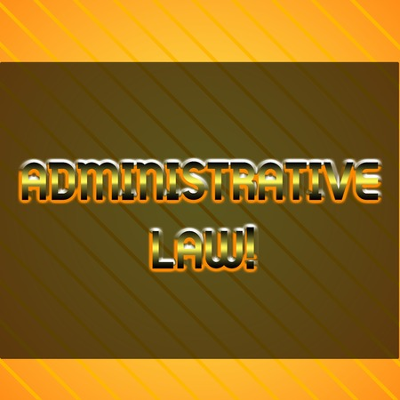 Word writing text Administrative Law. Business photo showcasing Body of Rules regulations Orders created by a government Infinite Diagonal Pattern Yellow Stripes Slanting Lines Matching Background 스톡 콘텐츠