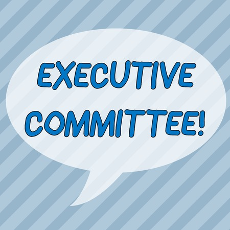 Handwriting text writing Executive Committee. Conceptual photo Group of Directors appointed Has Authority in Decisions Infinite Diagonal Pattern of Dark and Light Blue Stripes Slanting Lines