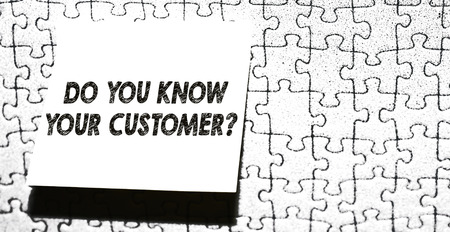 Word writing text Do You Know Your Customer Question. Business photo showcasing service identify clients with relevant information Piece of square note paper use for give notation stick to puzzle background