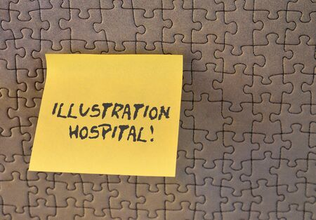 Writing note showing Illustration Hospital. Business concept for unique Applied Art of Medical Institution and Practice Square paper piece notation stick to textured glass window