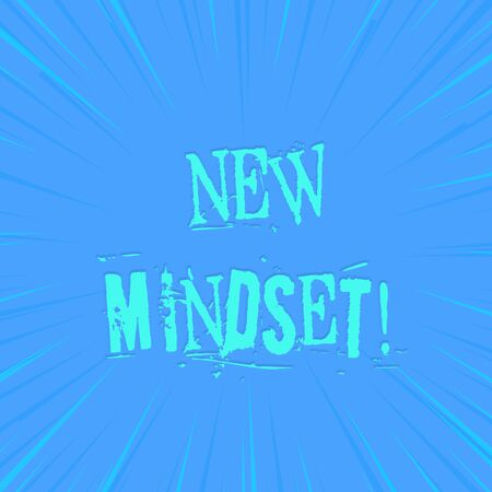 Text sign showing New Mindset. Business photo showcasing mental attitude of demonstratings responses to certain situations photo of Light shines on the edges centre is not exposed any glow