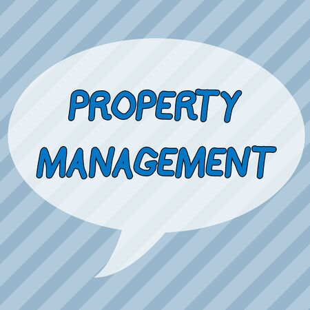 Handwriting text writing Property Management. Conceptual photo Overseeing of Real Estate Preserved value of Facility Infinite Diagonal Pattern of Dark and Light Blue Stripes Slanting Lines Stock Photo