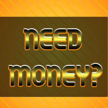 Word writing text Need Money Question. Business photo showcasing asking someone if he needs cash or bouns Get loan Infinite Diagonal Pattern Yellow Stripes Slanting Lines Matching Background Standard-Bild