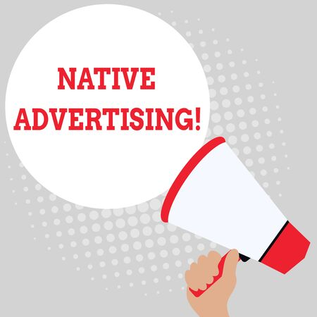 Writing note showing Native Advertising. Business concept for Online Paid Ads Match the Form Function of Webpage Office Worker Sunglass Blank Whiteboard Meeting Presentation 写真素材