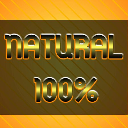 Word writing text Natural 100 Percent. Business photo showcasing Minimally processed and does not contain artificial flavors Infinite Diagonal Pattern Yellow Stripes Slanting Lines Matching Background