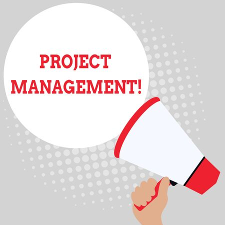 Writing note showing Project Management. Business concept for Application Process Skills to Achieve Objectives and Goal Office Worker Sunglass Blank Whiteboard Meeting Presentation