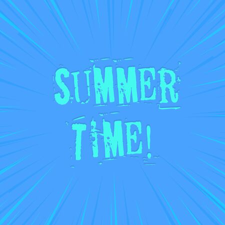Text sign showing Summer Time. Business photo showcasing achieve longer evening daylight summer setting clocks hour ahead photo of Light shines on the edges centre is not exposed any glow